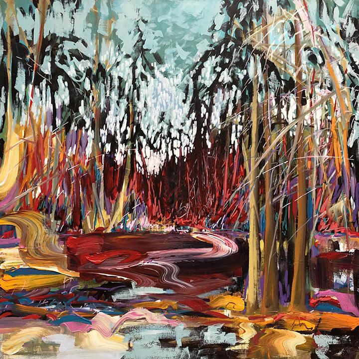 "Summer Swamp, Cape Breton, N.S. 36""x36"" $1750"