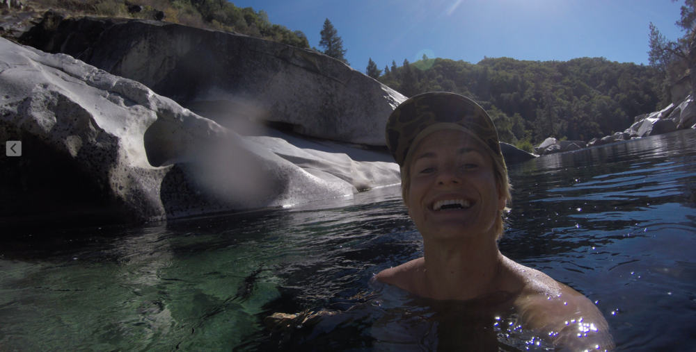 Me dipping in the Yuba River, California. This will always be my happy place.