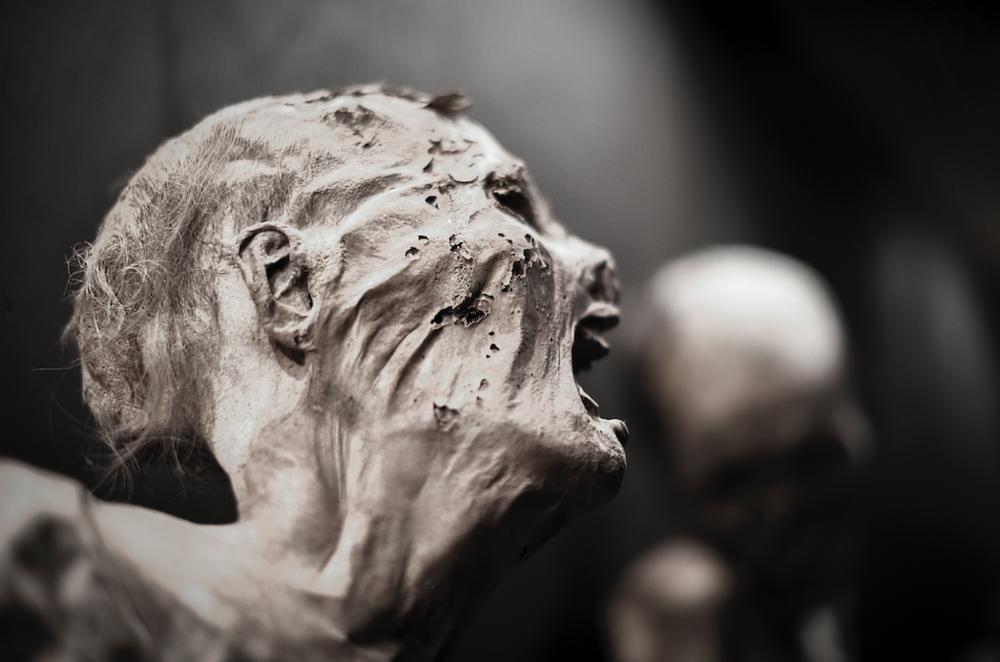 An actual mummy from El Museo de las Momias, Guanajuato City, Guanajuato, Mexico.