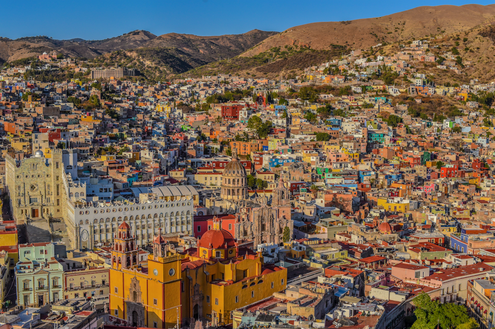 Overlook of Guanajuato City.