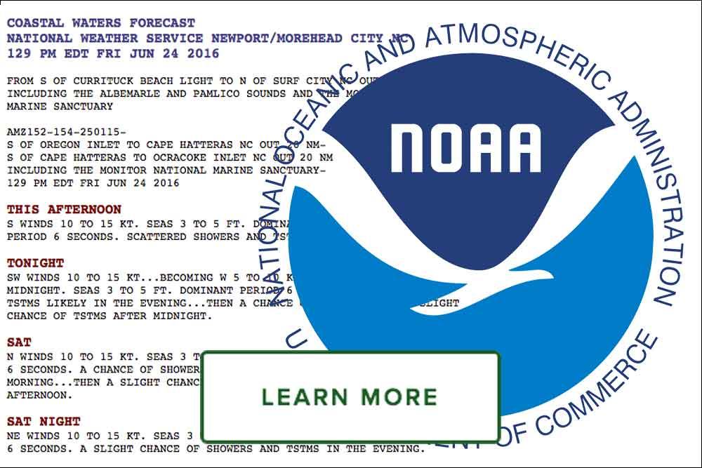 High return sportfishing - noaa marine forecast