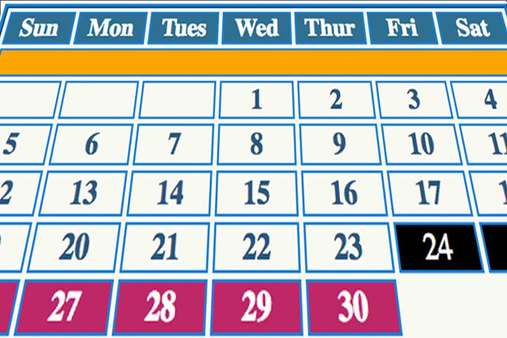 High Return Sportfishing - Booking Calendar