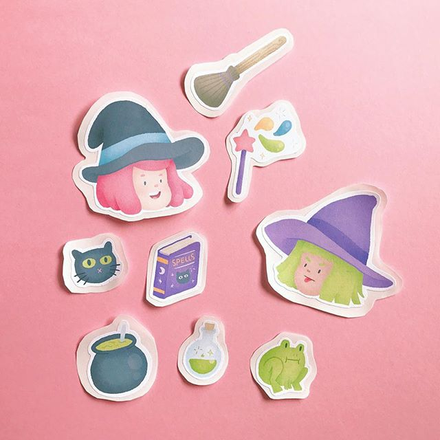 I got a sticker making machine so I can make some cute little paper sticker sets! #witchcuties