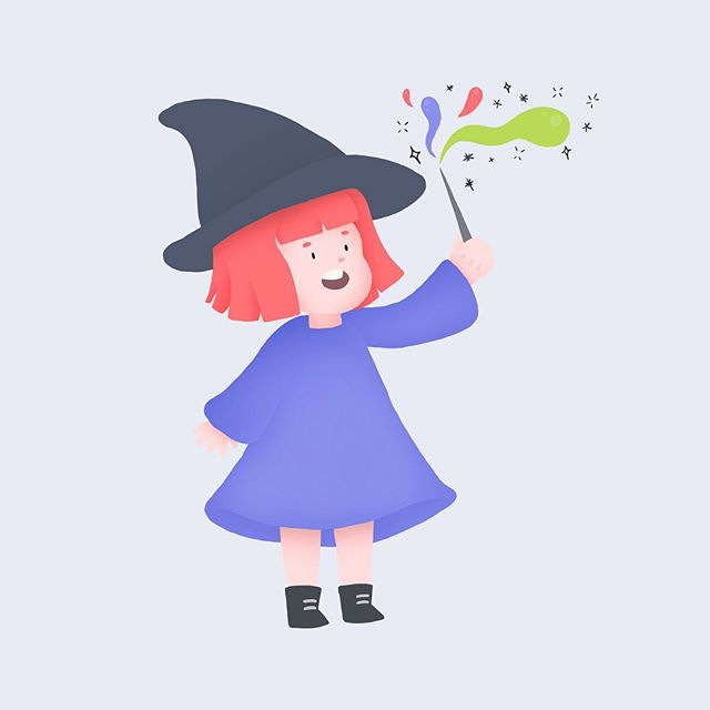 October means more witch drawings! #witchesofinstagram  #🎃