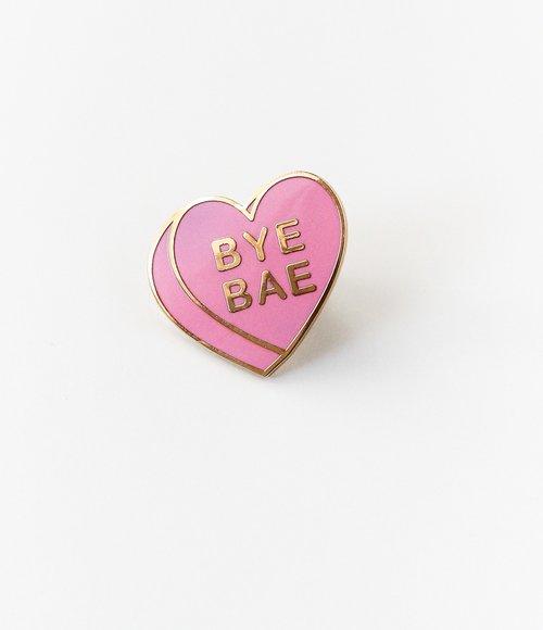 BYE BAE Goth Heart Hard Enamel Cloisonne Pin