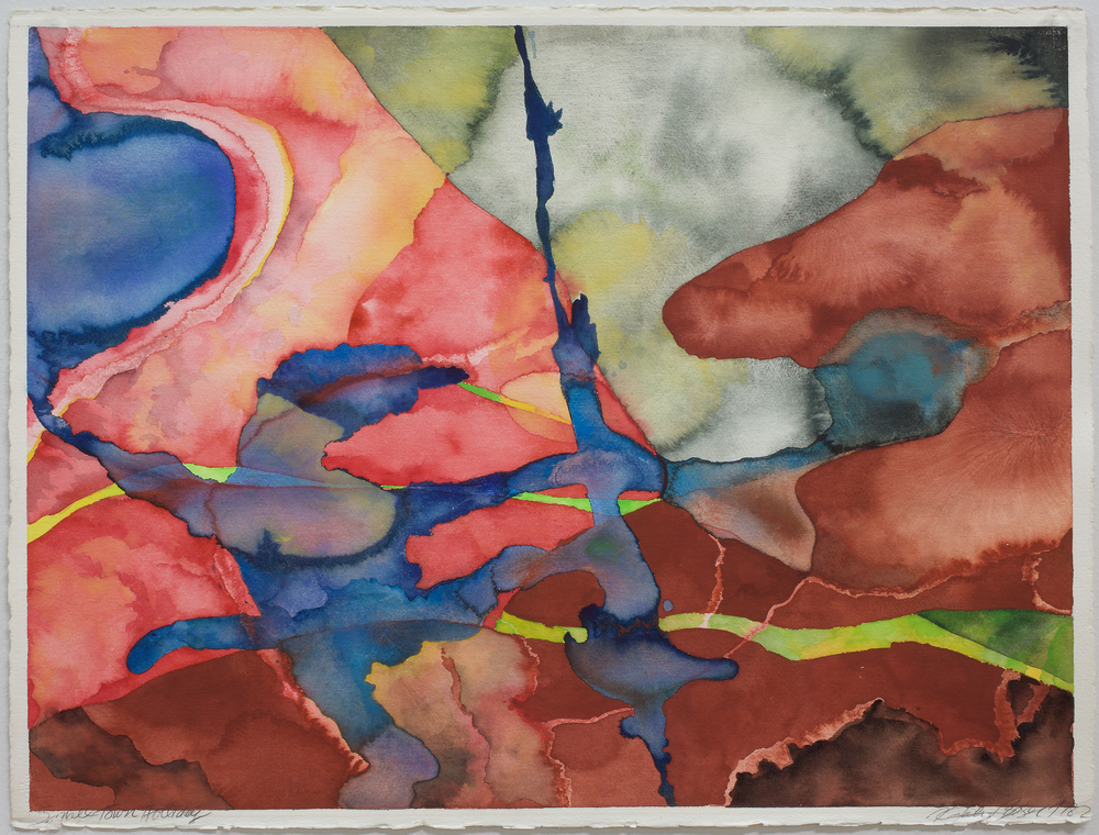 "Natalie Bieser ""Sierra Nevada Series"", Watercolor on Arches watercolor paper, 22x30 inches, 1982"