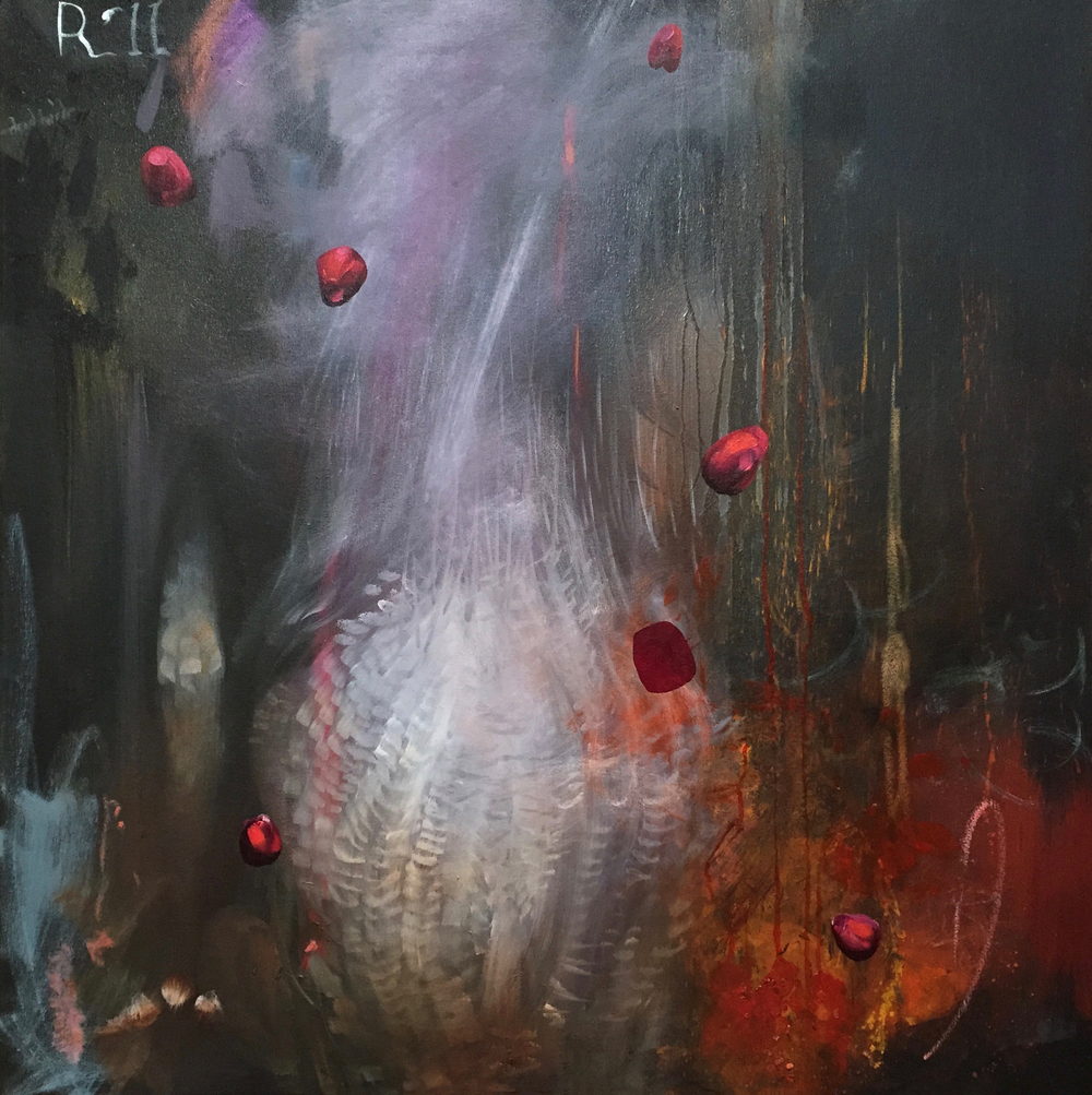 "Ciel Bergman, Helios D.A.B.I.S, Oil 0n canvas, 36""x36"", 2015"