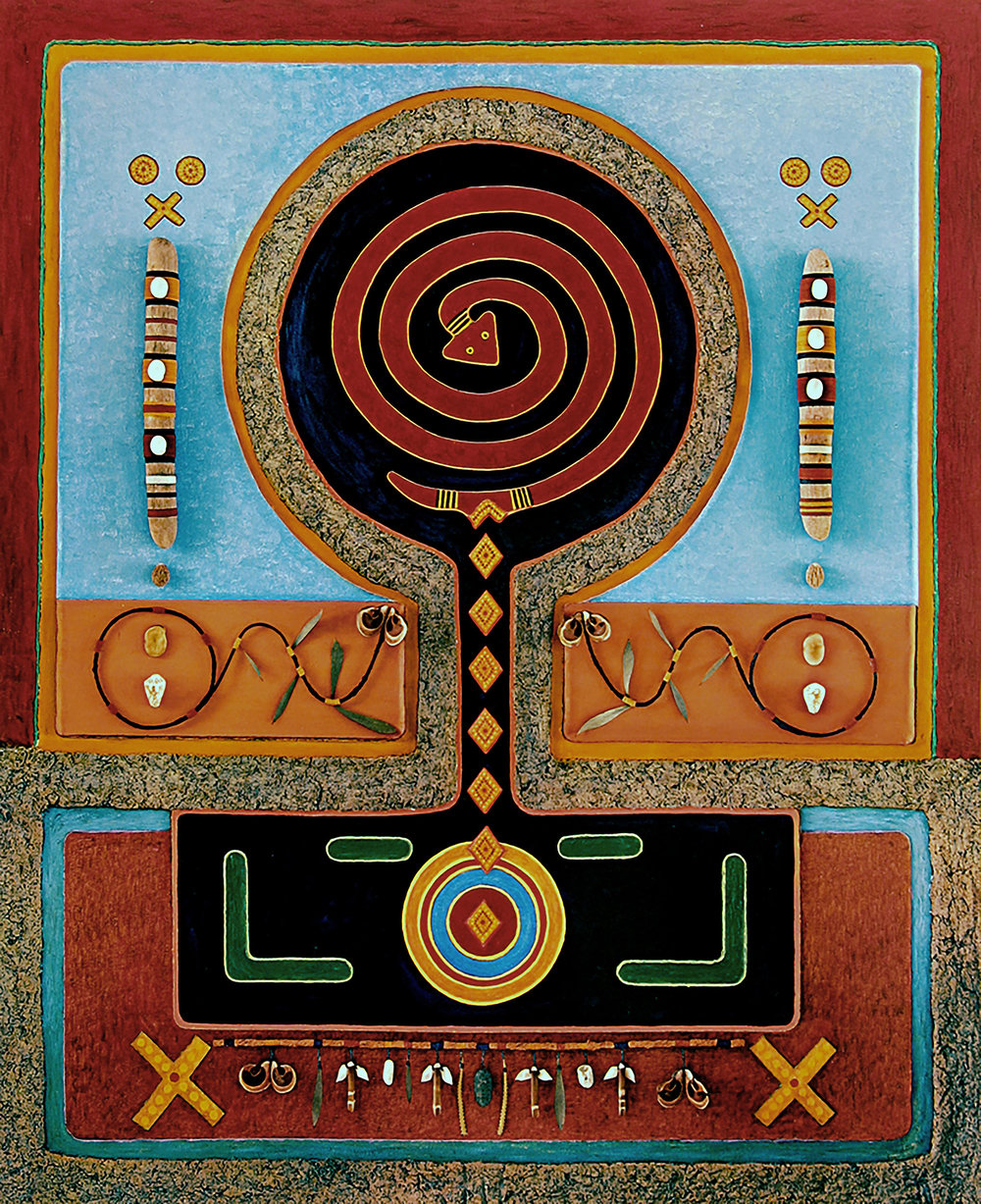 The  Rainbow Serpent 1985-1988, 24x29x2 inches, ed. 7/7