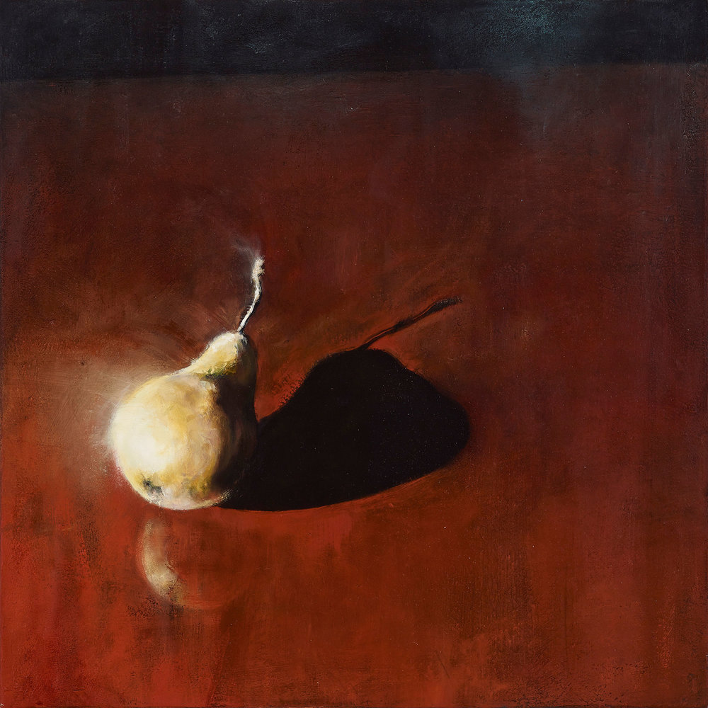 "Pear 2013, oil on canvas, 22""x22"""