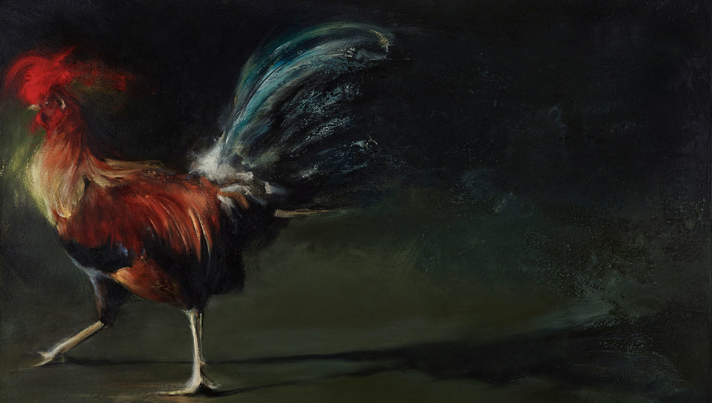 "Le Coq 2012, oil on canvas, 32""x40"""