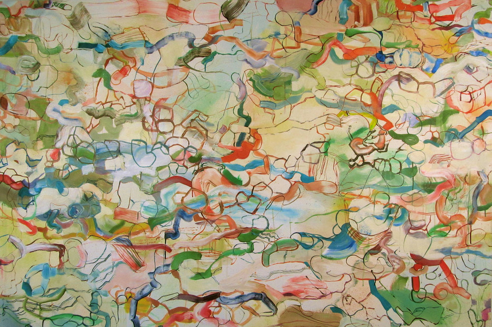 Fable 2012, Acrylic on canvas, 48 x 72 in