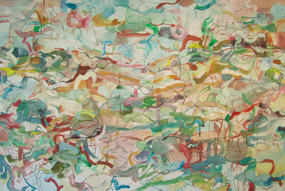 Nectar 2012, Acrylic on canvas, 48 x 72 in