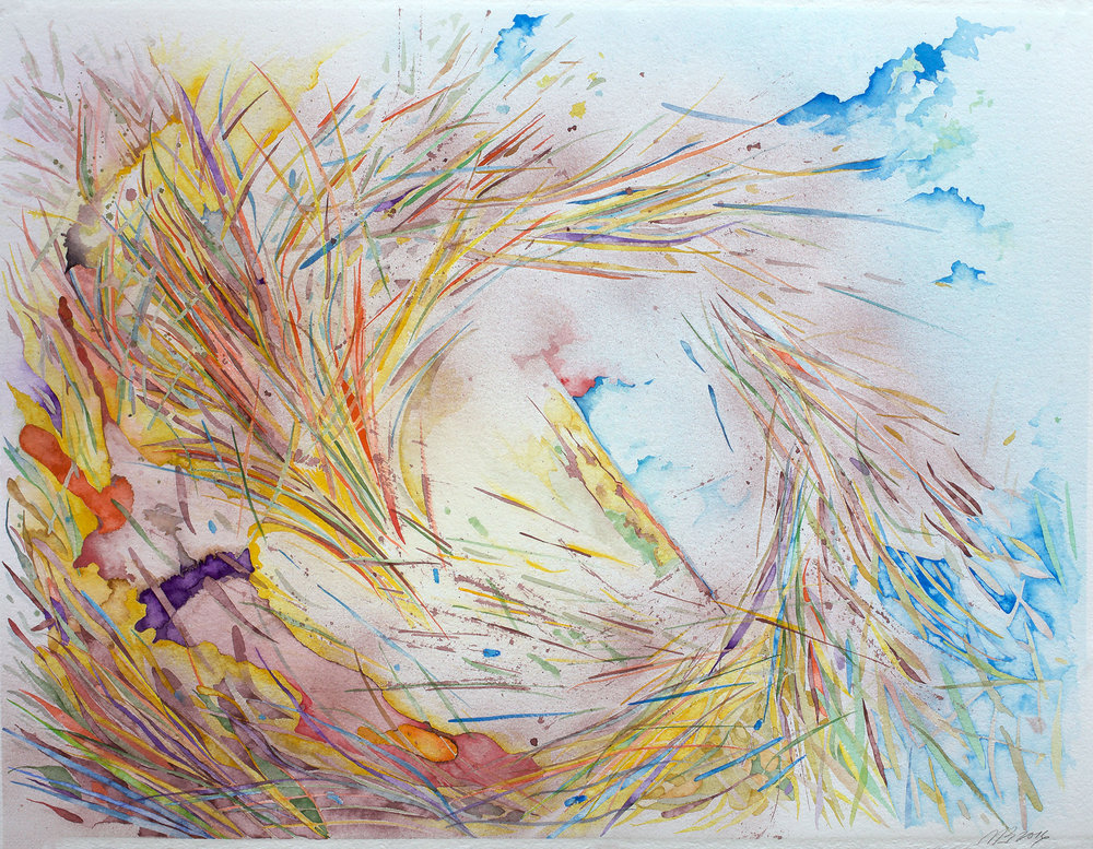 Dust Devil 2016, Watercolor on Arches watercolor paper, 22 x 30 in.