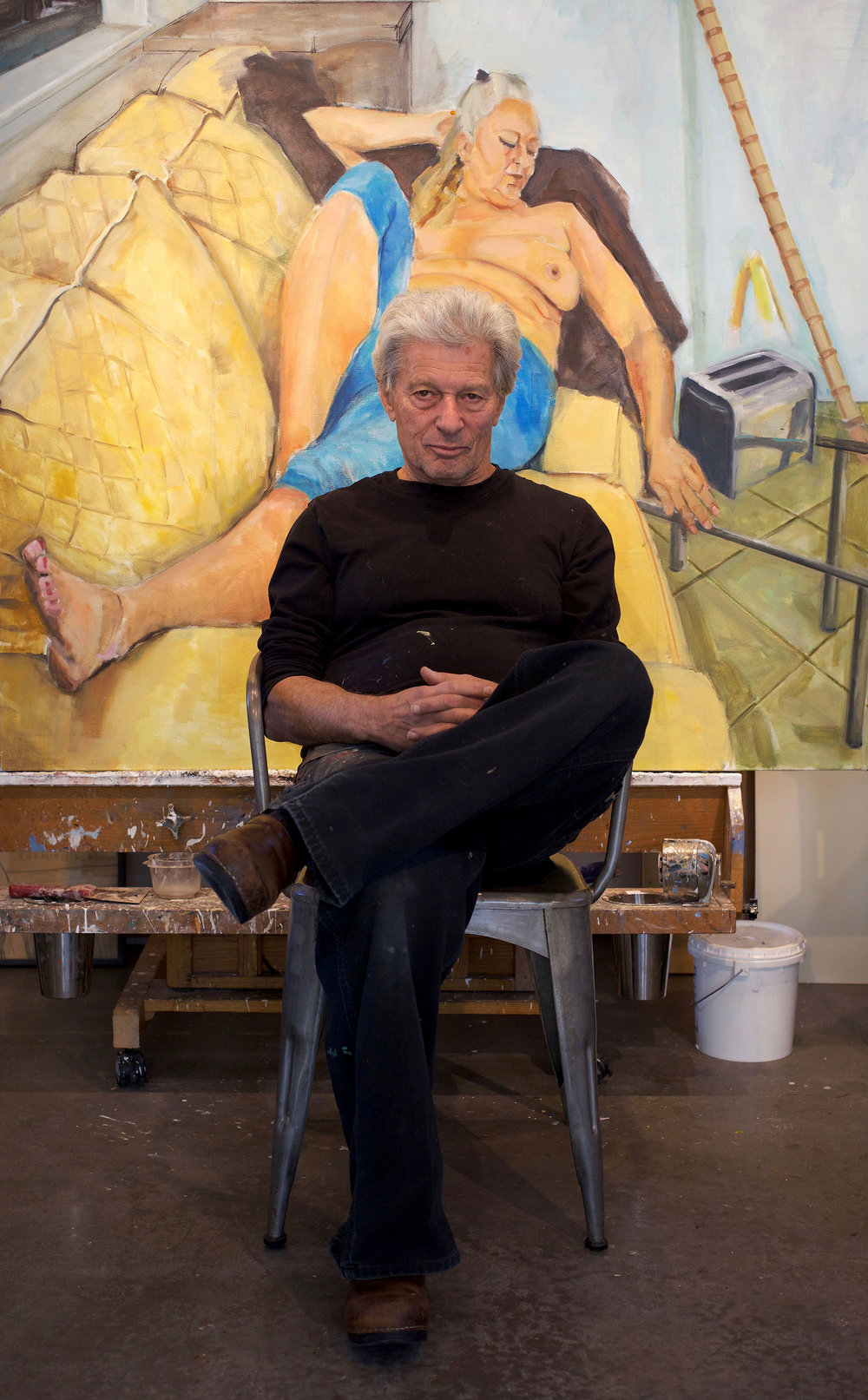 Bob Richardson in his studio | Santa Fe | Photo by Tasha Ostrander©2017