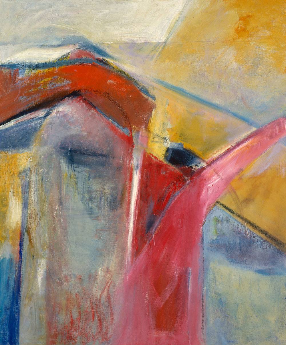 La Tierra XVIII, 1987, oil on canvas, 50 x 42 in.