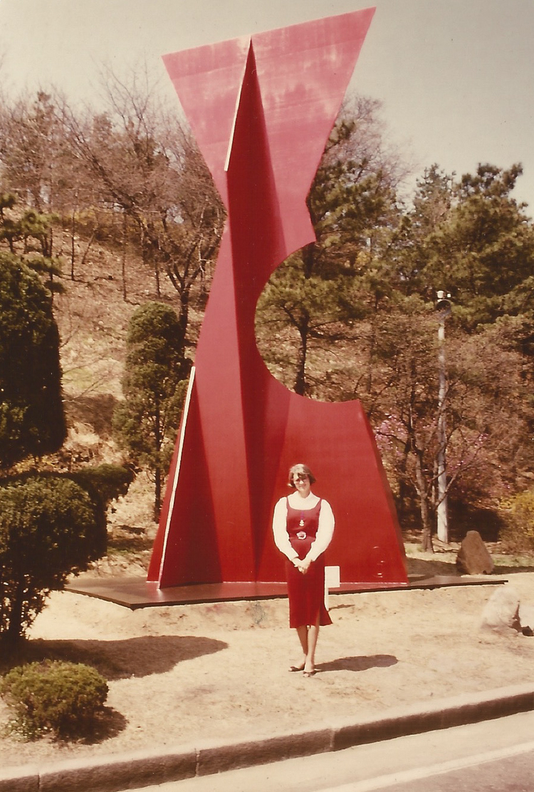 Betty Gold in Seoul South Korea circa 1985.