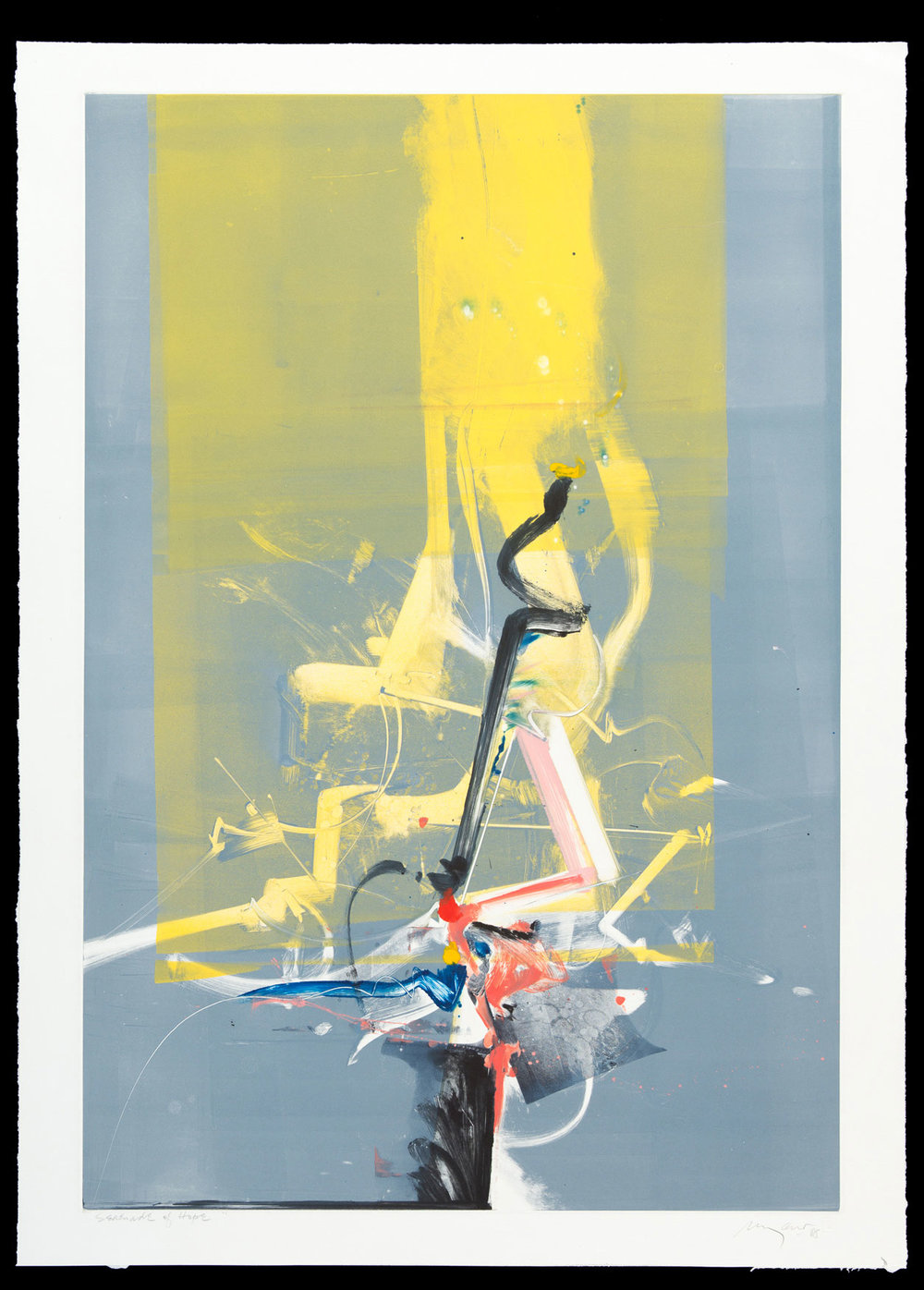 Serenade of Hope, 1988, monotype, 23.5 x 34.5 in.