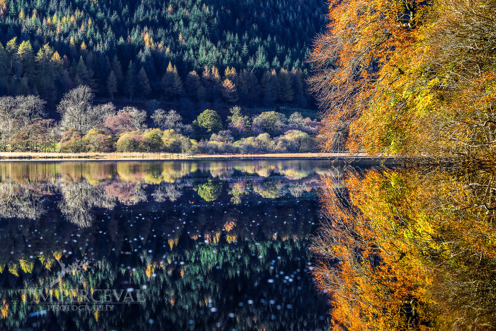 Autumn mirror on the pristine calm of Loch Lubnaig