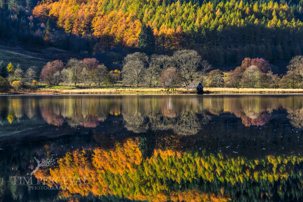 Mirrored Autumn on Loch Lubnaig