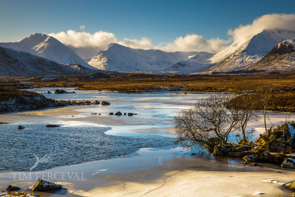 Ice and snow, Loch na h-achlaise, Rannoch Moor