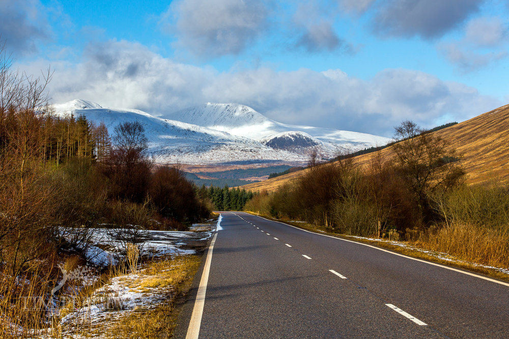 Highland road to the Bridge of Orchy