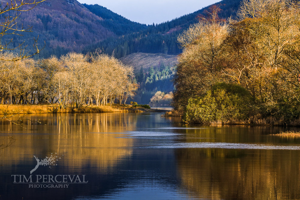 Loch Lubnaig passage at sunset
