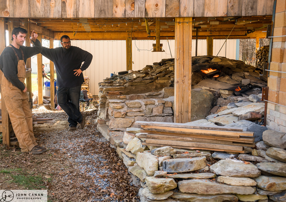 The anagama kiln wood fired pottery kiln in Maryland with Tim Sherman