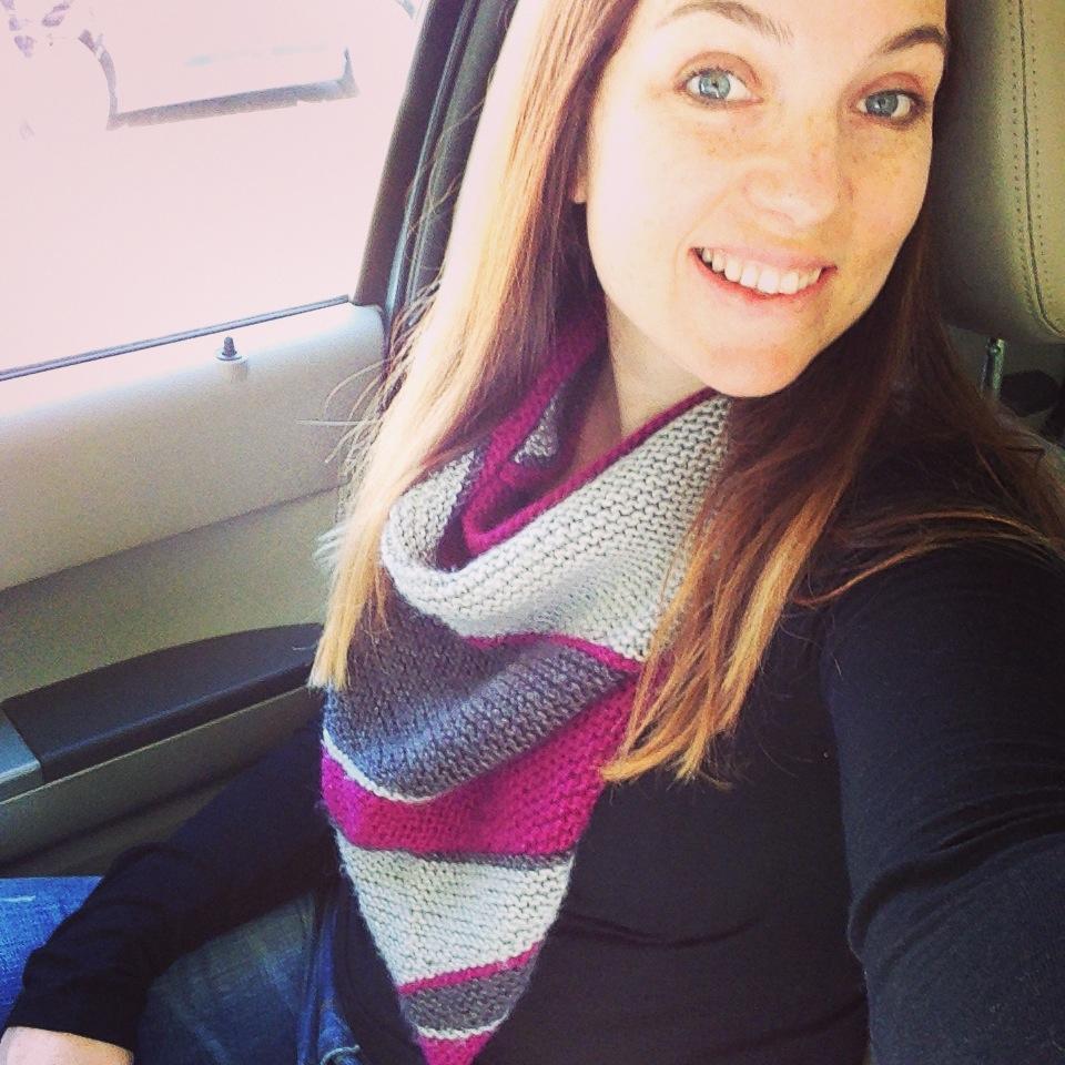 4- Jen Gray Pink Shawl