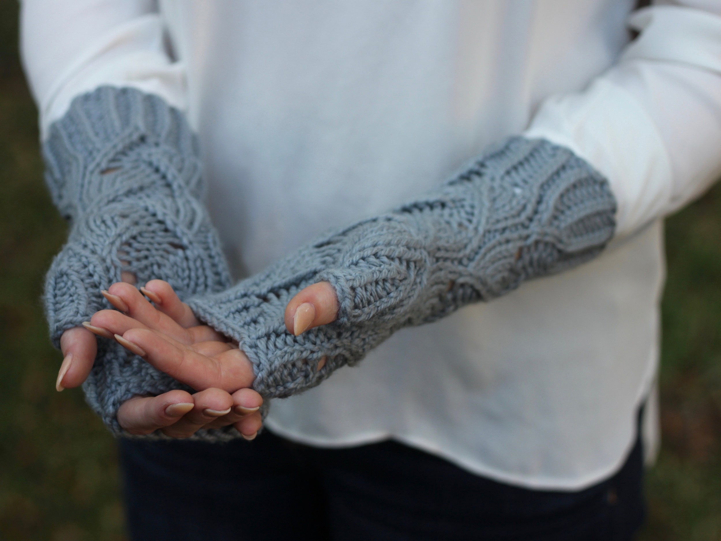 Trieste Mitts, knitting, bulky yarn