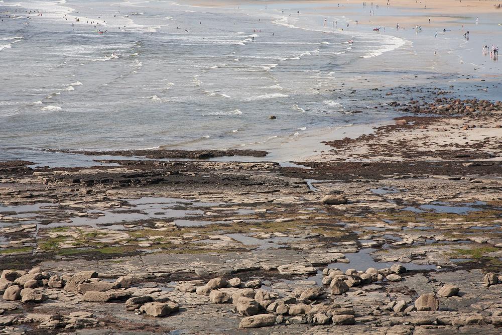 A documentary photograph of an irish beach during a rare heatwave