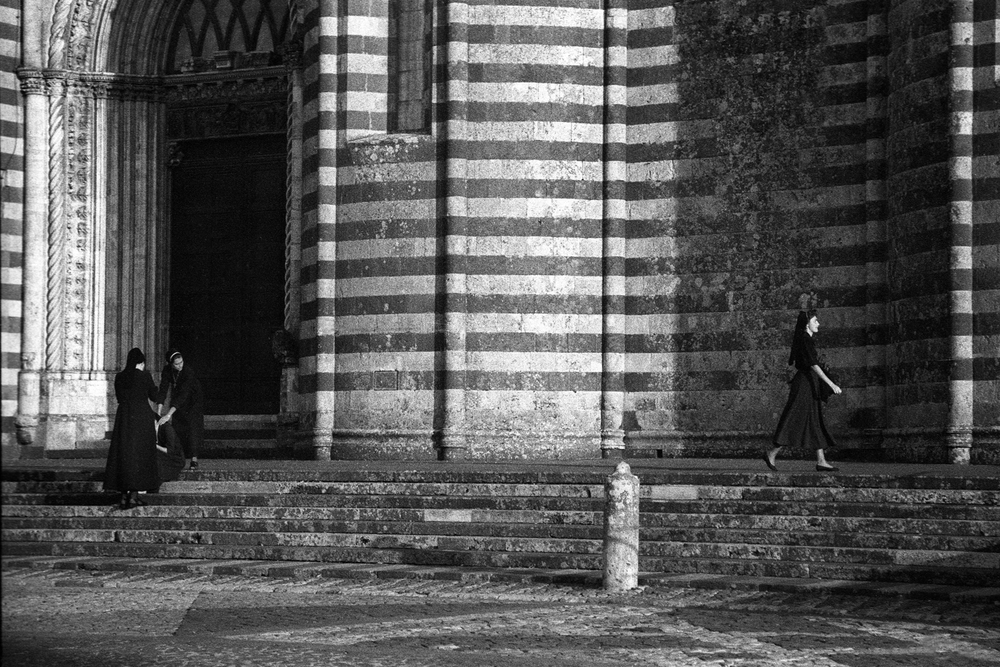 A documentary photograph of nuns in Italy
