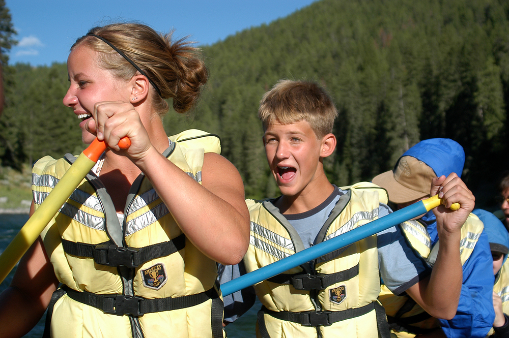 Rafting on the Snake River is fun for the whole family