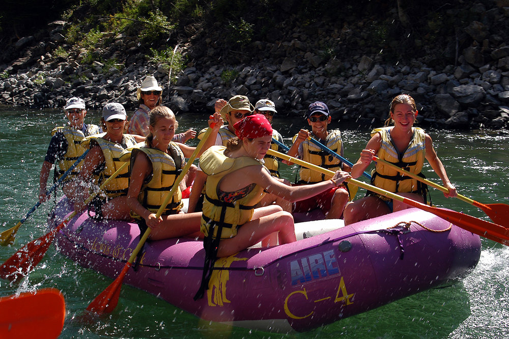 Our small boat is the smallest raft offered on the Snake River, designed for a wetter ride.