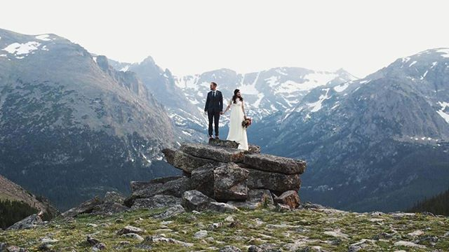 Madeleine & Taylor  A still from an amazing destination wedding in the Rocky Mountains.