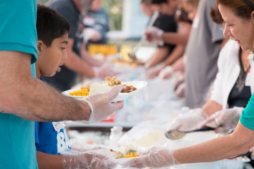 FEEDING MINISTRY  We provide meals, clothing, gas, diapers and household items to families in need across Orlando. We want to be the hands and feet of Jesus, bringing love and hope with those around us.