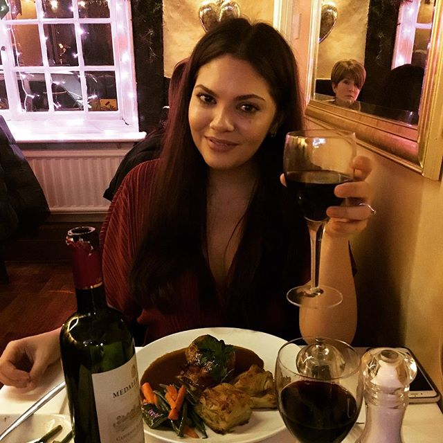 Happy 3rd Anniversary to my angel @ayeshaduvall Celebrated as ever with good steak and even better wine. Every day with you, life gets a little sweeter. Here's to many more... next one we'll be married! xxx ❤️