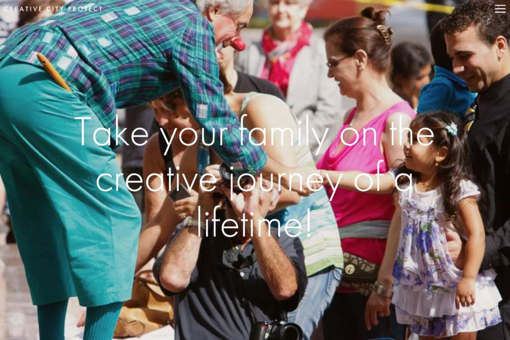 Click the image for an example of a landing page designed for families.