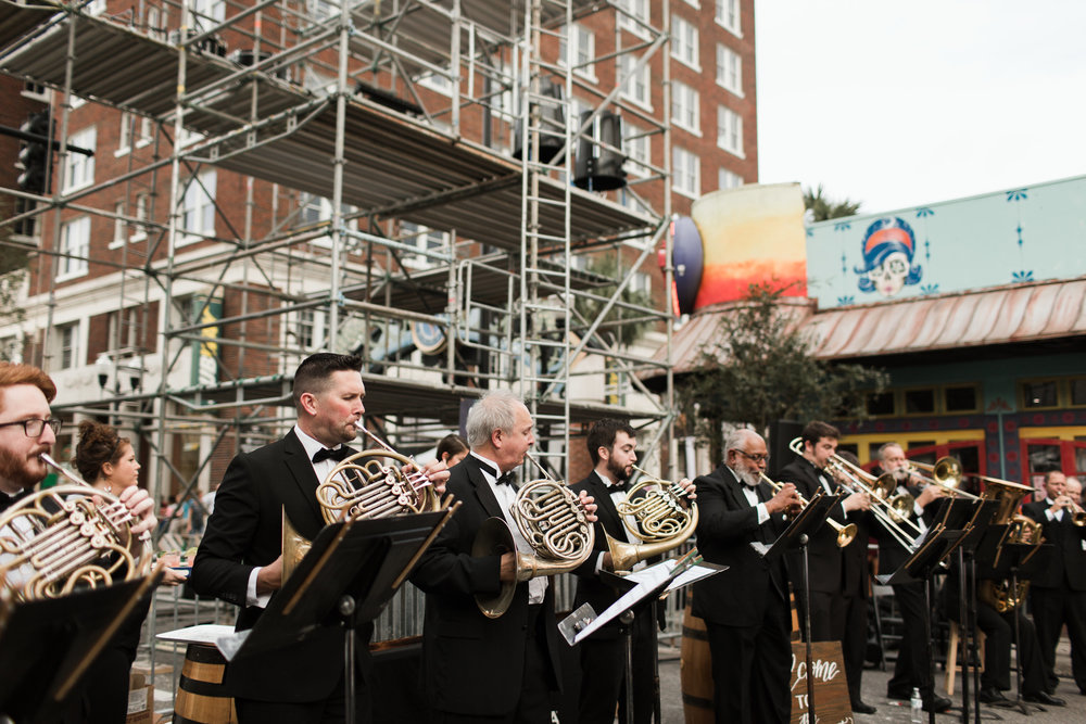 """The Orlando Philharmonic performance """"Fanfare for Orlando"""" by local composer, Keith Lay(photo : Vine and Light Photography)"""
