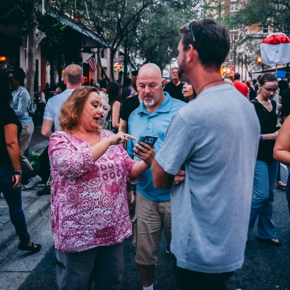 """The IMMERSE 2017 app allowed guests to view performances, times, and locations. They could then """"favorite"""" acts they wanted to see and plan their trip in advance (photo : Charles Schuett)"""