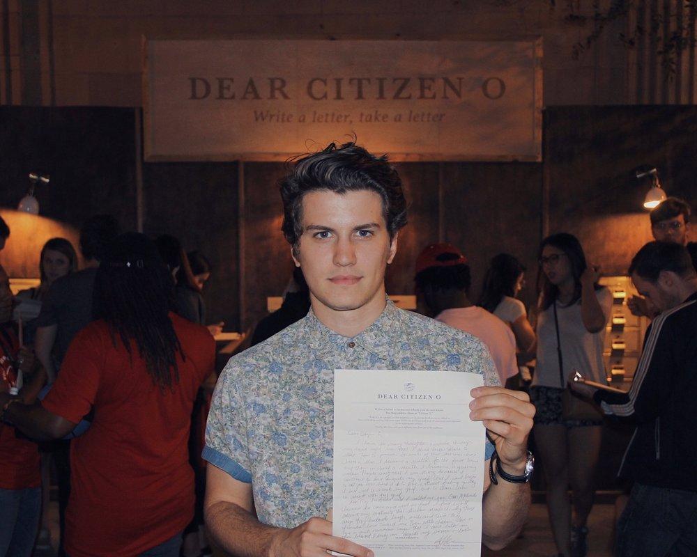 A letter recipient (photo : Jacob Dempsey)