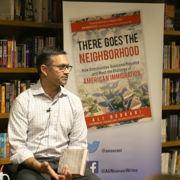 "Ali Noorani presented ""There Goes the Neighborhood"" in Coral Gables during his book tour."