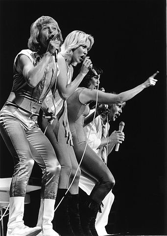 "ABBA (shown here during a 1979 performance in Edmonton) had their song ""Dancing Queen"" inducted into he Grammy Hall of Fame in 2015.  (image: Anders Henser)"