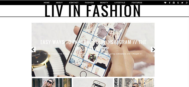 Liv In Fashion - Homepage
