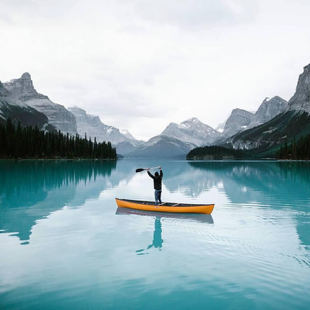 Maligne Lake, Jasper by   @daniel_ernst