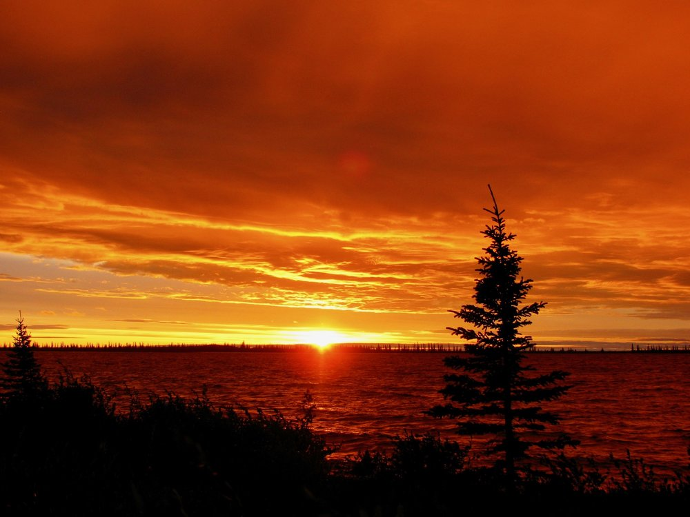 Coppermine River Midnight sun.jpg