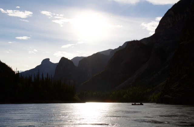 Nahanni River canoe in Frist Canyon.jpg