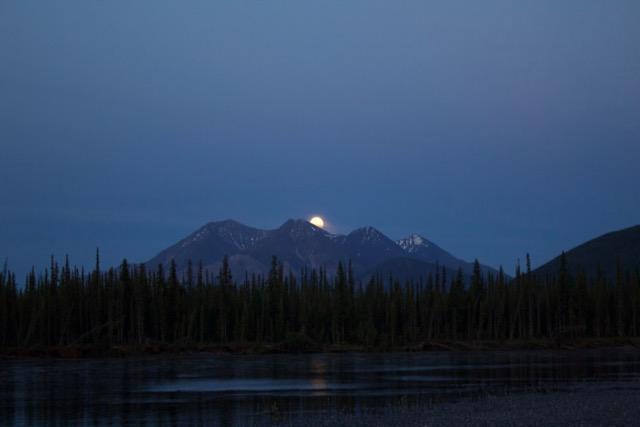 Nahanni River Moonrise over Rabbitkettle Mountain.jpg