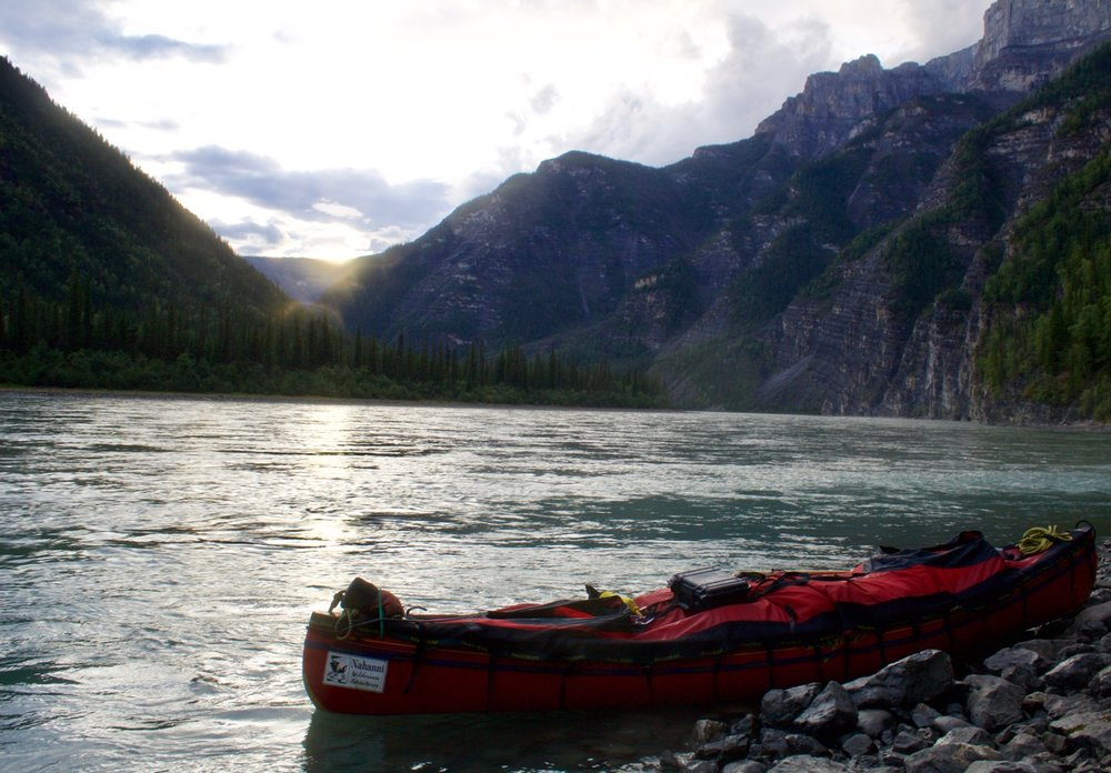 Nahanni River Sunset in First Canyon.jpg