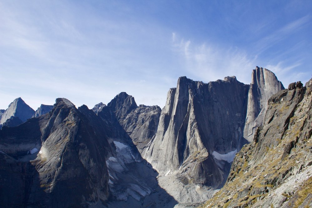 Cirque view of Lotus flower Tower, Nahanni National Park and UNESCO World Heritage Site.