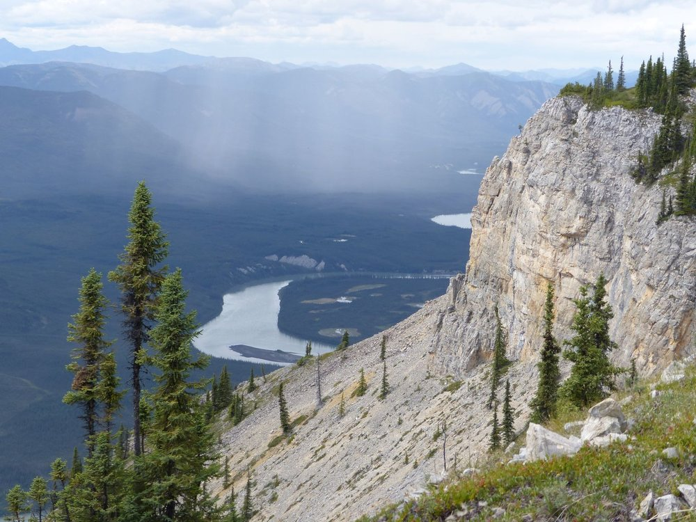 A view from Sunblood Mountain, Nahanni National Park and UNESCO World Heritage Site.